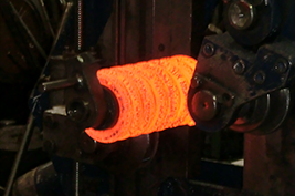 Ressorts de compression enroule a chaud